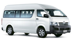 Minibus or Mini van from and to Pattaya beach and Bangkok Airport or City with Toyota Commuter, your cheapest private transportation.