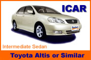 Car Rentals of Toyota Corolla Altis in Chiangmai